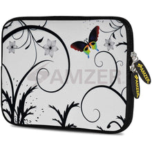 Load image into Gallery viewer, AMZER 7.75 Inch Neoprene Zipper Sleeve Pouch Tablet Bag - Snow Butterfly - amzer