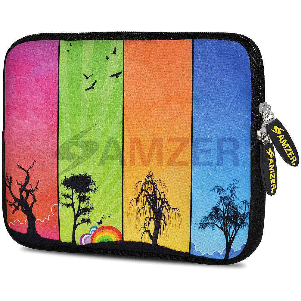 AMZER 7.75 Inch Neoprene Zipper Sleeve Pouch Tablet Bag - Seasons - amzer