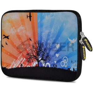 AMZER 7.75 Inch Neoprene Zipper Sleeve Pouch Tablet Bag - Dawn To Dusk