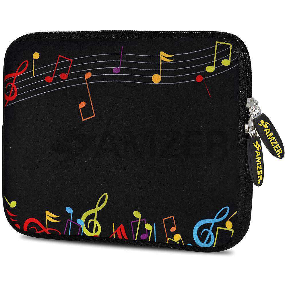 AMZER 7.75 Inch Neoprene Zipper Sleeve Pouch Tablet Bag - The Composer - amzer