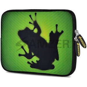 AMZER 7.75 Inch Neoprene Zipper Sleeve Pouch Tablet Bag - Green Frog
