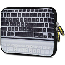 Load image into Gallery viewer, AMZER 7.75 Inch Neoprene Zipper Sleeve Pouch Tablet Bag - Keyboard Reflection - amzer