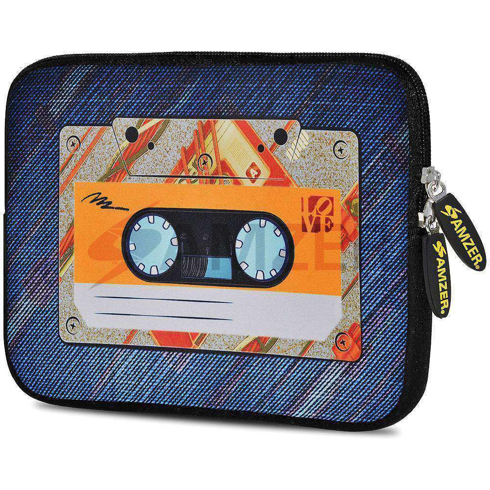 AMZER 10.5 Inch Neoprene Zipper Sleeve Pouch Tablet Bag - Audio Cassette