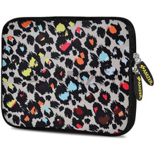 Load image into Gallery viewer, AMZER 7.75 Inch Neoprene Zipper Sleeve Pouch Tablet Bag - Neon Safari - amzer