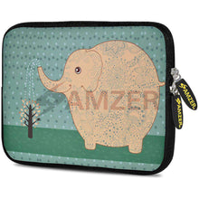 Load image into Gallery viewer, AMZER 7.75 Inch Neoprene Zipper Sleeve Pouch Tablet Bag - Cute Elephant - amzer