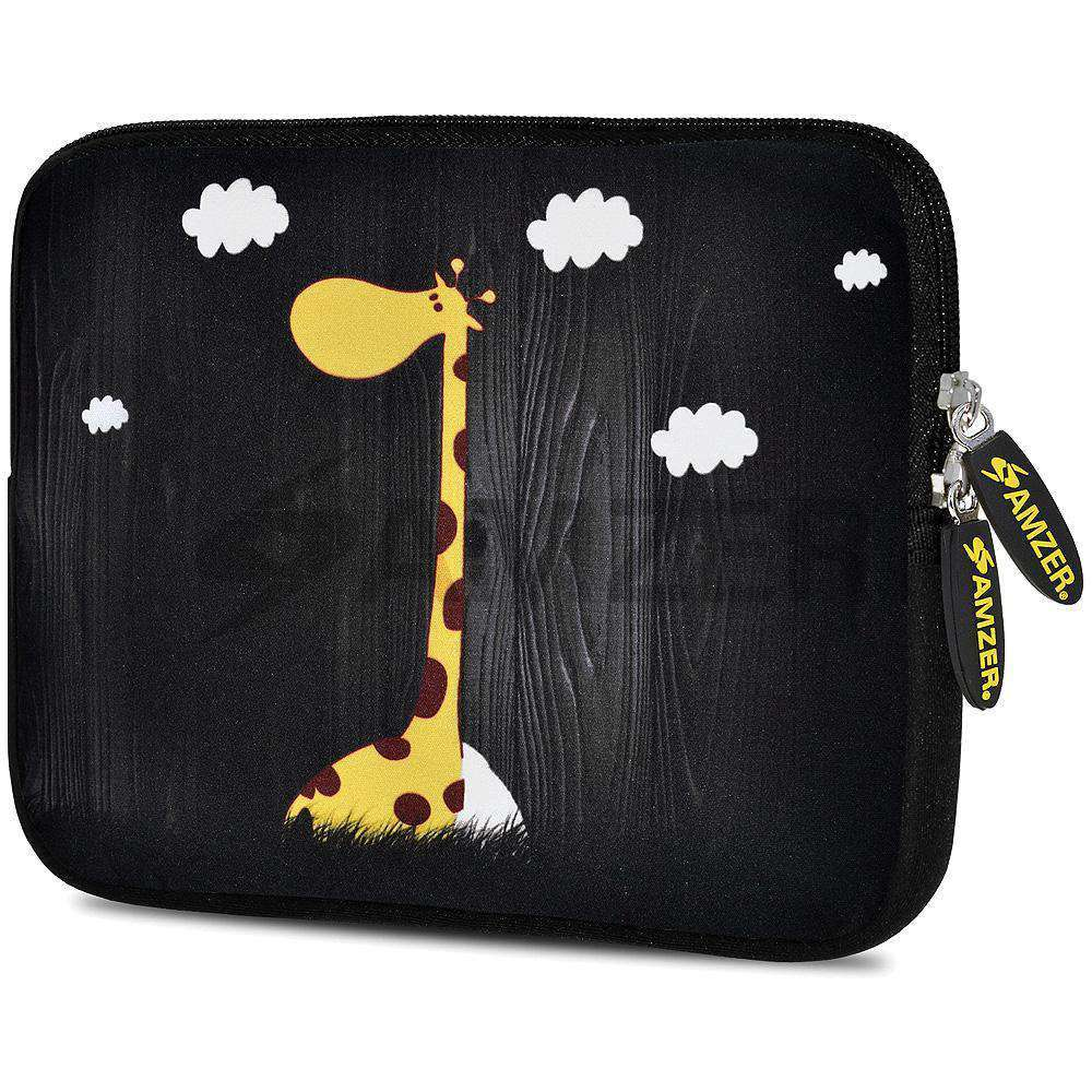 AMZER 7.75 Inch Neoprene Zipper Sleeve Pouch Tablet Bag - Dreamer Girraff - amzer