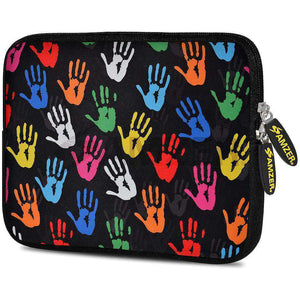 AMZER 7.75 Inch Neoprene Zipper Sleeve Pouch Tablet Bag - Colour Palms