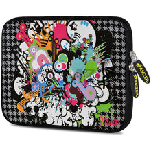 Load image into Gallery viewer, AMZER 7.75 Inch Neoprene Zipper Sleeve Pouch Tablet Bag - Funky Mix - amzer
