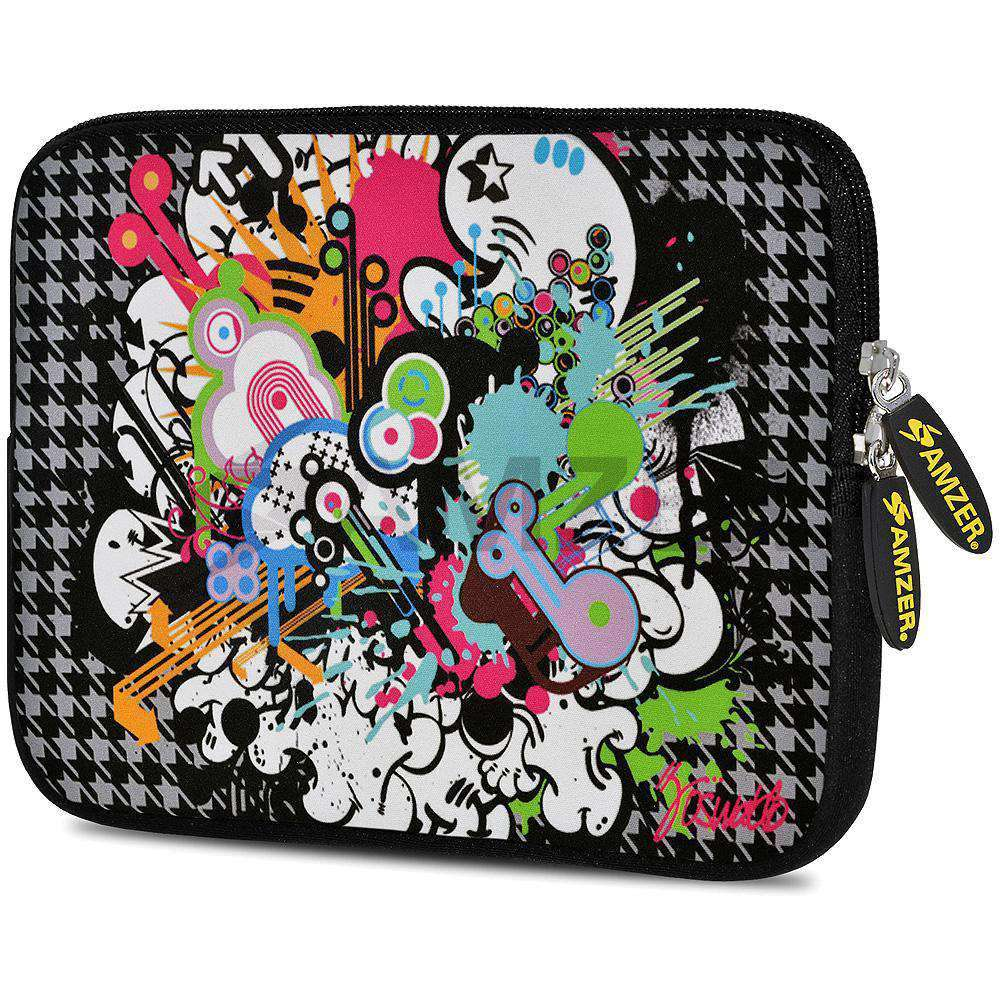 AMZER 7.75 Inch Neoprene Zipper Sleeve Pouch Tablet Bag - Funky Mix