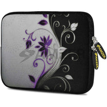 Load image into Gallery viewer, AMZER 7.75 Inch Neoprene Zipper Sleeve Pouch Tablet Bag - Purple Lotus - amzer