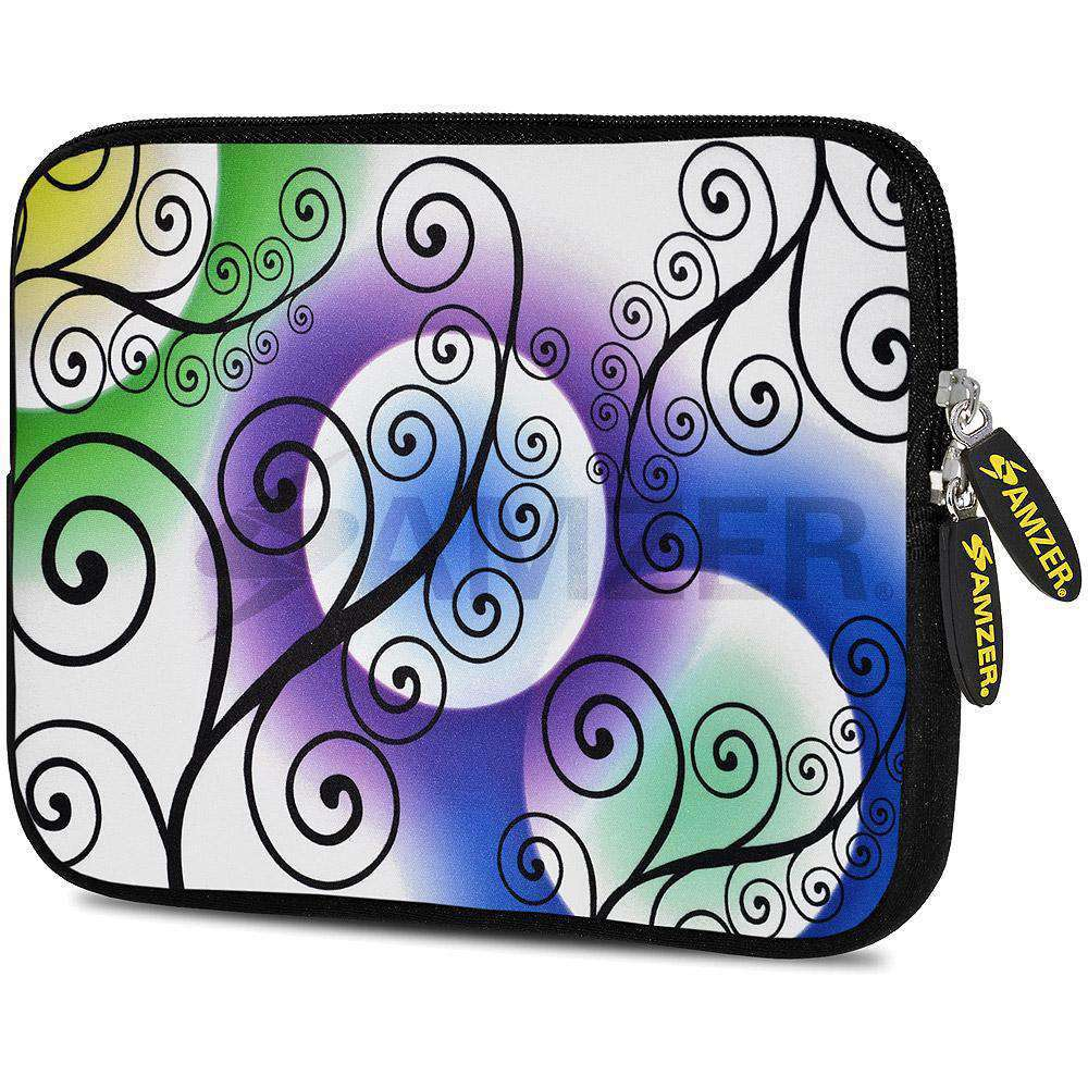 AMZER 7.75 Inch Neoprene Zipper Sleeve Pouch Tablet Bag - Twill Colour - amzer