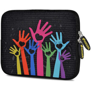 AMZER 10.5 Inch Neoprene Zipper Sleeve Pouch Tablet Bag - Hand on Heart - amzer