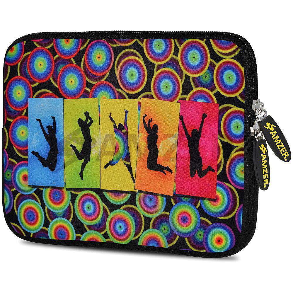 AMZER 7.75 Inch Neoprene Zipper Sleeve Pouch Tablet Bag - Jump Free - amzer