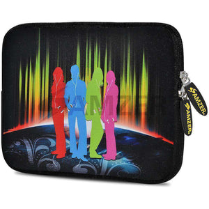 AMZER 10.5 Inch Neoprene Zipper Sleeve Pouch Tablet Bag - Fab Four - amzer