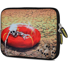 Load image into Gallery viewer, AMZER 10.5 Inch Neoprene Zipper Sleeve Pouch Tablet Bag - Skull Wreck - amzer