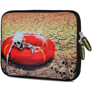 AMZER 10.5 Inch Neoprene Zipper Sleeve Pouch Tablet Bag - Skull Wreck - amzer