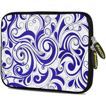 Load image into Gallery viewer, AMZER 7.75 Inch Neoprene Zipper Sleeve Pouch Tablet Bag - Blue Elegance - amzer