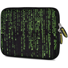 Load image into Gallery viewer, AMZER 7.75 Inch Neoprene Zipper Sleeve Pouch Tablet Bag - Green Data - amzer
