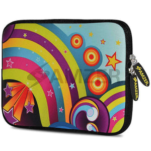AMZER 7.75 Inch Neoprene Zipper Sleeve Pouch Tablet Bag - Funky Ritz - amzer