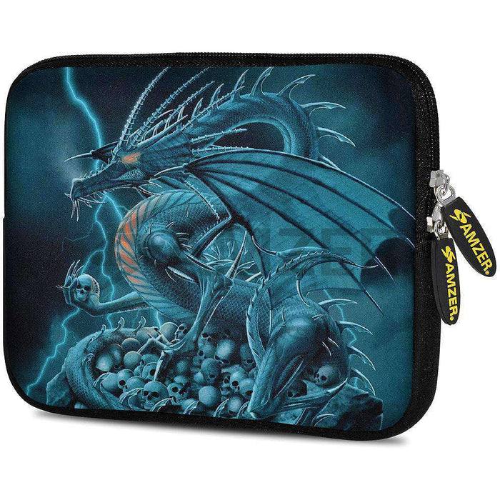 AMZER 7.75 Inch Neoprene Zipper Sleeve Pouch Tablet Bag - Teal Dragon