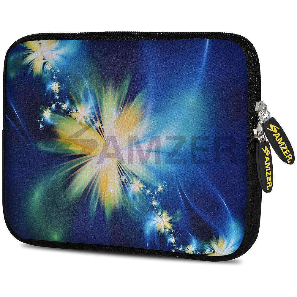 AMZER 7.75 Inch Neoprene Zipper Sleeve Pouch Tablet Bag - Starlight Galaxy - amzer