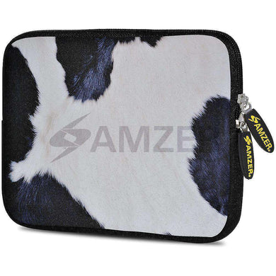 AMZER 7.75 Inch Neoprene Zipper Sleeve Pouch Tablet Bag - Cow Hide