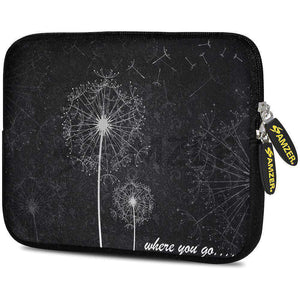 AMZER 7.75 Inch Neoprene Zipper Sleeve Pouch Tablet Bag - Dandilions