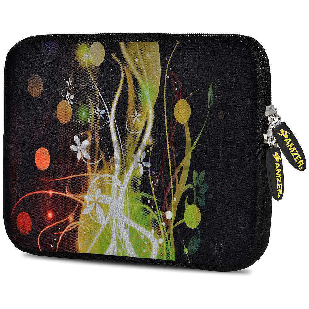 AMZER 10.5 Inch Neoprene Zipper Sleeve Pouch Tablet Bag - Green Light