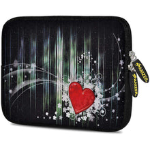Load image into Gallery viewer, AMZER 7.75 Inch Neoprene Zipper Sleeve Pouch Tablet Bag - Red Heart - amzer