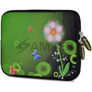 AMZER 7.75 Inch Neoprene Zipper Sleeve Pouch Tablet Bag - Daisy Dream - amzer