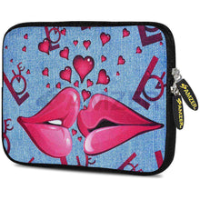 Load image into Gallery viewer, AMZER 10.5 Inch Neoprene Zipper Sleeve Pouch Tablet Bag - Love Lips - amzer