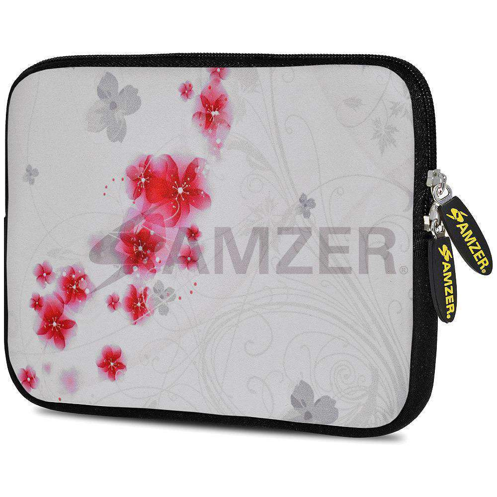 AMZER 7.75 Inch Neoprene Zipper Sleeve Pouch Tablet Bag - Periwinkles - amzer