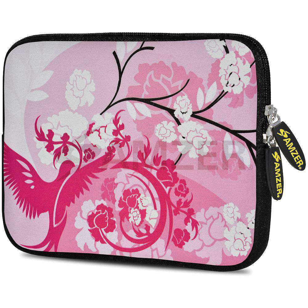 AMZER 7.75 Inch Neoprene Zipper Sleeve Pouch Tablet Bag - Pink Bay