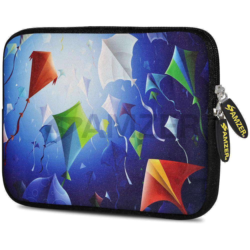 AMZER 7.75 Inch Neoprene Zipper Sleeve Pouch Tablet Bag - Colored Fishes