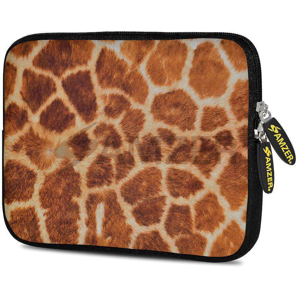 AMZER 7.75 Inch Neoprene Zipper Sleeve Pouch Tablet Bag - Giraff Safari
