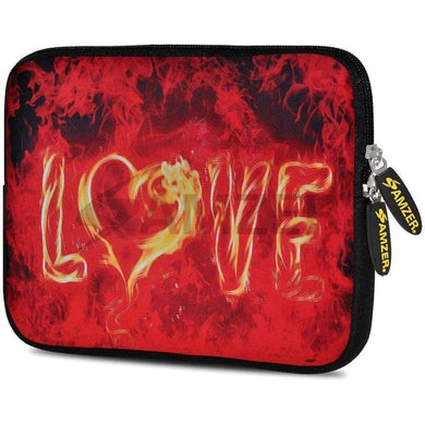 AMZER 10.5 Inch Neoprene Zipper Sleeve Pouch Tablet Bag - Love Red