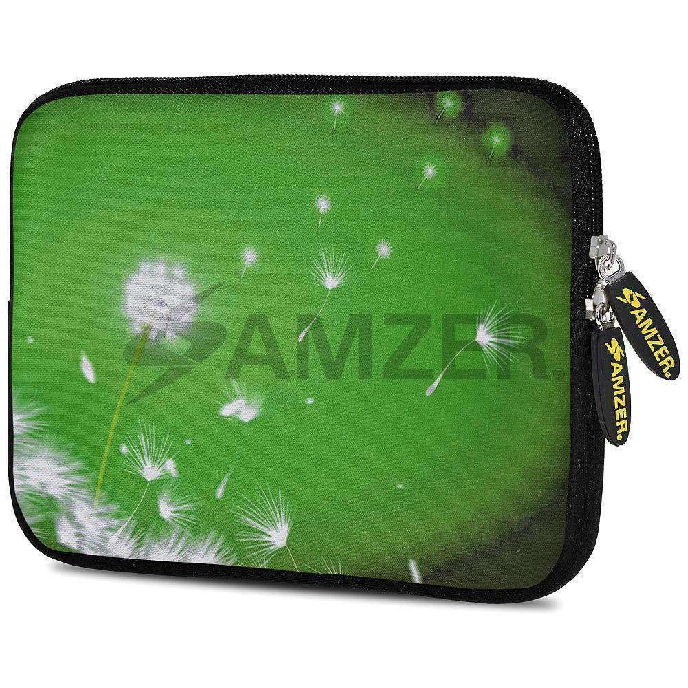 AMZER 10.5 Inch Neoprene Zipper Sleeve Pouch Tablet Bag - Green Expanse