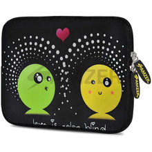 Load image into Gallery viewer, AMZER 7.75 Inch Neoprene Zipper Sleeve Pouch Tablet Bag - Fountain Dots - amzer