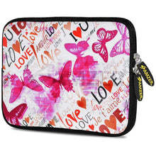 Load image into Gallery viewer, AMZER 7.75 Inch Neoprene Zipper Sleeve Pouch Tablet Bag - Butterfly Zone - amzer