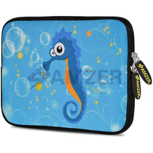 Load image into Gallery viewer, AMZER 10.5 Inch Neoprene Zipper Sleeve Pouch Tablet Bag - Sea Horse - amzer