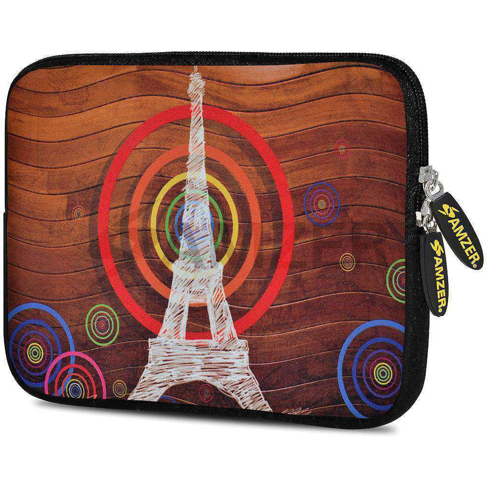AMZER 10.5 Inch Neoprene Zipper Sleeve Pouch Tablet Bag - Imagine Tower - amzer