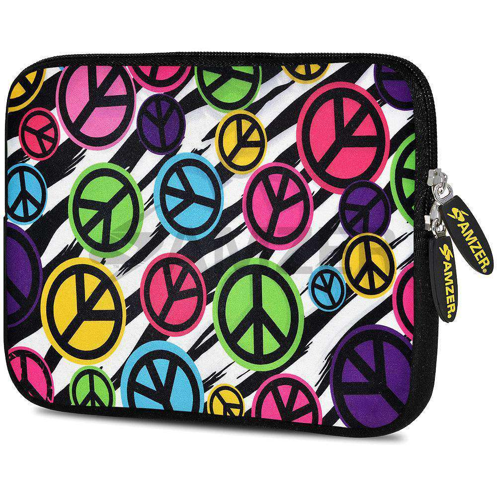 AMZER 7.75 Inch Neoprene Zipper Sleeve Pouch Tablet Bag - Peace United