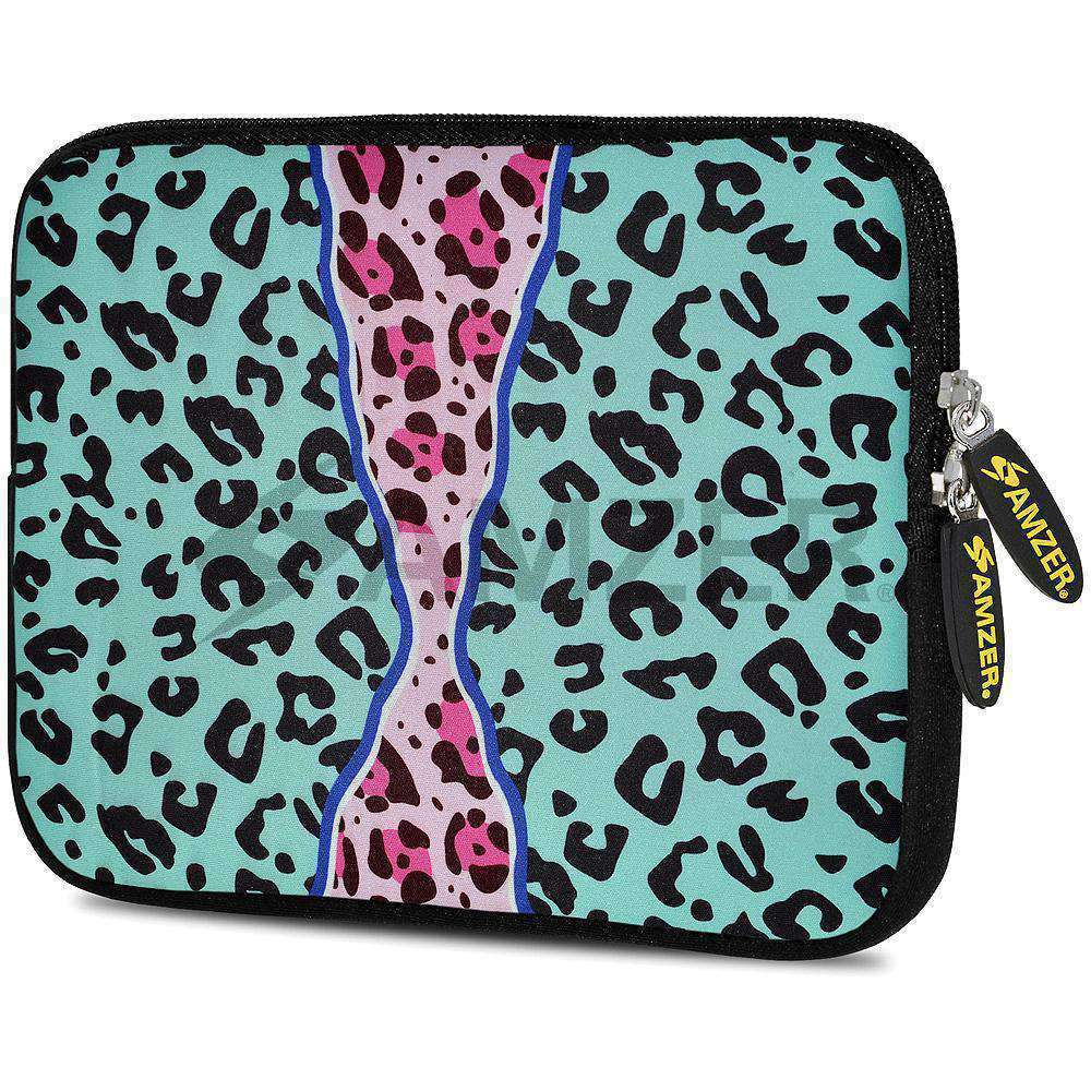 AMZER 10.5 Inch Neoprene Zipper Sleeve Pouch Tablet Bag - Blue Safari - amzer