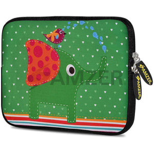 AMZER 10.5 Inch Neoprene Zipper Sleeve Pouch Tablet Bag - Elephant Salutes