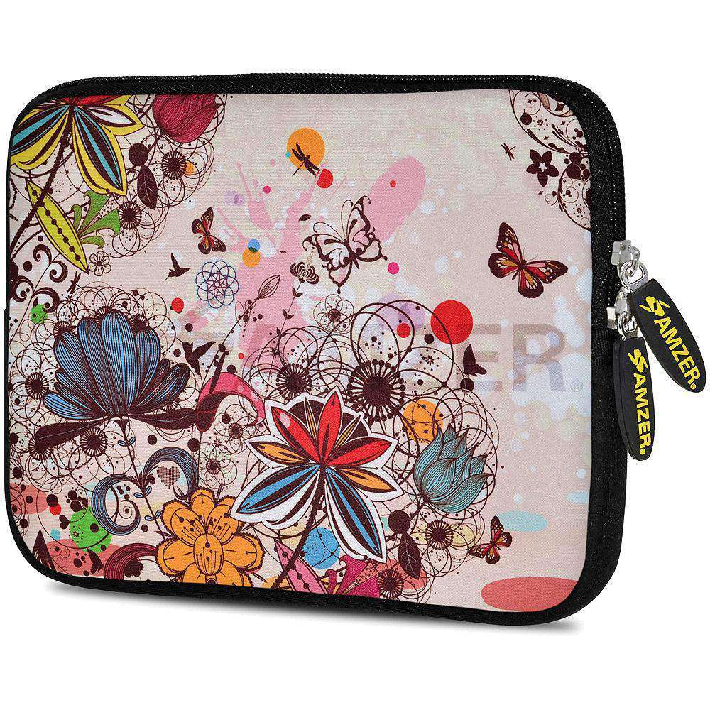 AMZER 7.75 Inch Neoprene Zipper Sleeve Pouch Tablet Bag - Autumn