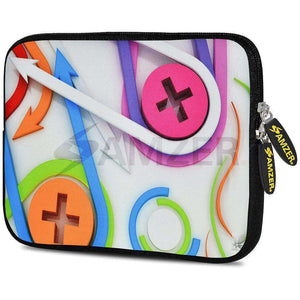 AMZER 7.75 Inch Neoprene Zipper Sleeve Pouch Tablet Bag - Held Together - amzer