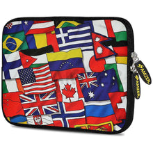 Load image into Gallery viewer, AMZER 7.75 Inch Neoprene Zipper Sleeve Pouch Tablet Bag - Flags United - amzer