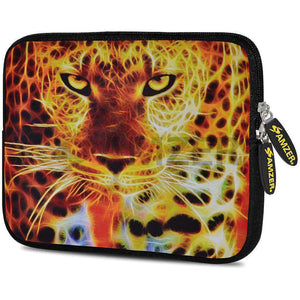 AMZER 7.75 Inch Neoprene Zipper Sleeve Pouch Tablet Bag - Big Cat - amzer