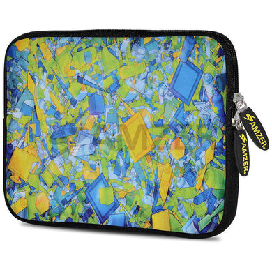 AMZER 7.75 Inch Neoprene Zipper Sleeve Pouch Tablet Bag - Yell Blue Classic - amzer