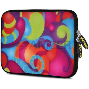 AMZER 7.75 Inch Neoprene Zipper Sleeve Pouch Tablet Bag - Dancing Colours